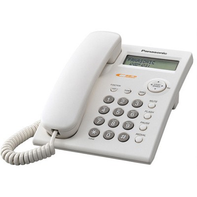 KX-TSC11W 1 Line Corded Telephone with Call Waiting Caller ID