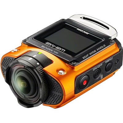 WG-M2 Compact Waterproof Wi-Fi Full HD 4K Action Orange Digital Cam - OPEN BOX