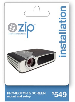 Front Projector & Screen Professional Installation