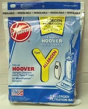 Type Y Allergen Filtration Vacuum Bags (3 pack)