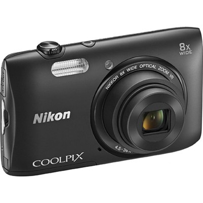 COOLPIX S3600 20.1MP 2.7` LCD Digital Camera Black - Manufacturer Refurbished