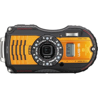 WG-5 GPS 16MP F 2.0 Underwater Tough Digital Camera - Orange
