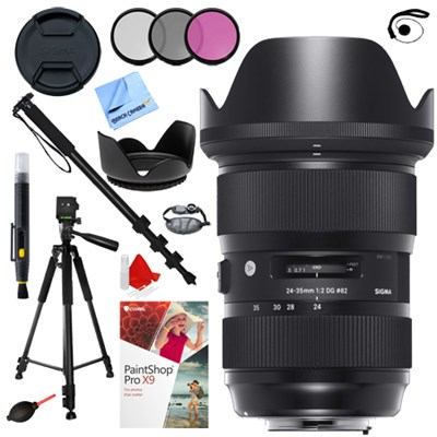 24-35mm F2 DG HSM Standard-Zoom Lens for Nikon + Accessories Kit