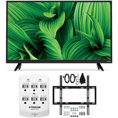 D-Series D32hn-E1 32` Class Full-Array LED TV w/ Flat Wall Mount Bundle