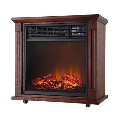 5200 BTU Comfort Glow Quartz Fireplace in Oak - QF4544
