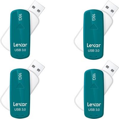 16 GB JumpDrive S33 USB 3.0 Flash Drive (Teal) 4-Pack - (64GB Total)