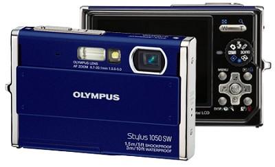 Stylus 1050SW 10MP Shockproof Waterproof Digital Camera (Blue) - REFURBISHED