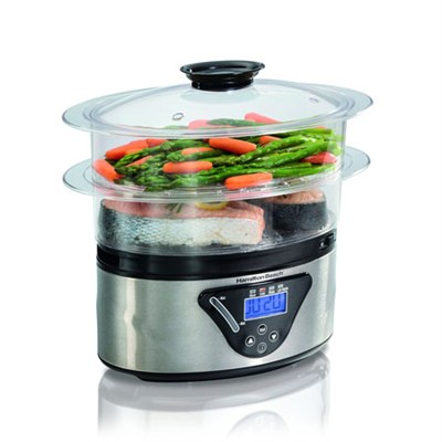 37530Z 5.5 Quart 2-Tier Digital Steamer