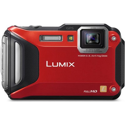 LUMIX DMC-TS6 WiFi Enabled Tough Adventure Red Digital Camera