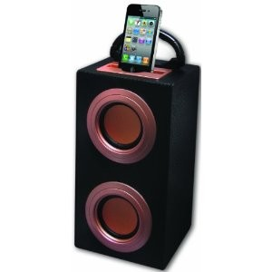 IPWOOD-G Wood Carbon Mobile Speaker System for iPhone, iPod, MP3 Players, Smartp