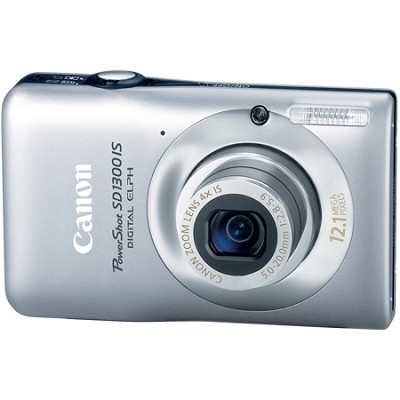 Powershot SD1300 IS 12MP Digital ELPH Camera (Silver)(Factory Refurbished)