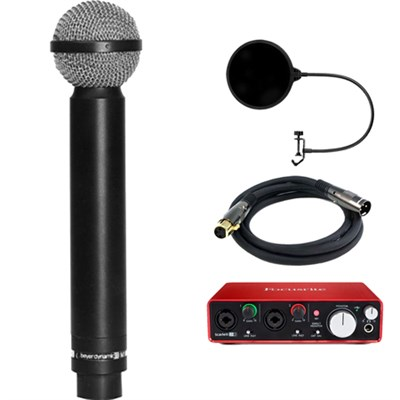 Legendary Hypercardioid Double Ribbon Microphone w/ Interface Bundle
