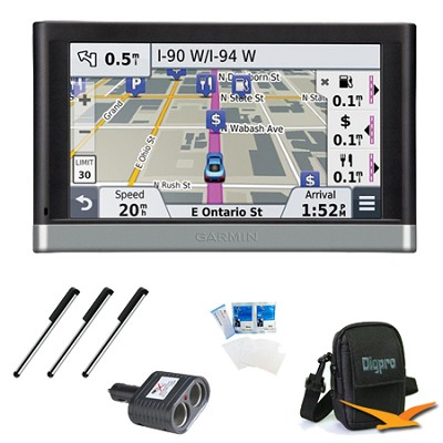 nuvi 2557LMT 5` GPS with Lifetime Maps and Traffic Updates Essentials Bundle