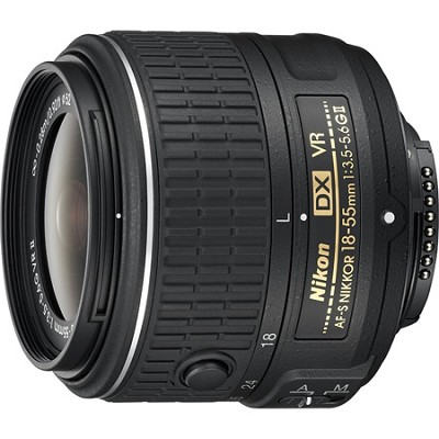 AF-S DX NIKKOR 18-55mm f/3.5-5.6 G VR II Lens - Factory Refurbished