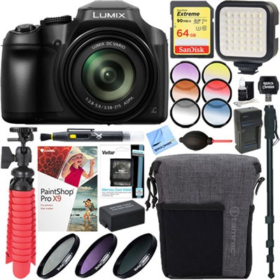 DC-FZ80K 4K 18.1MP Digital Camera + 64GB Memory & Filter Accessory Bundle