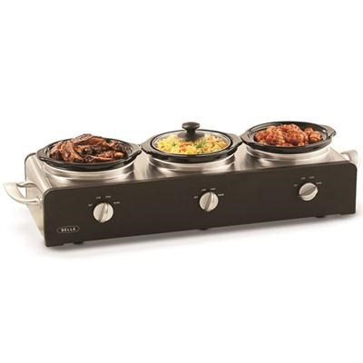 3x1.5-Quart Round Triple Slow Cooker - 13490