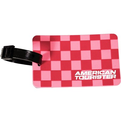 Cherry Checks Luggage Tag