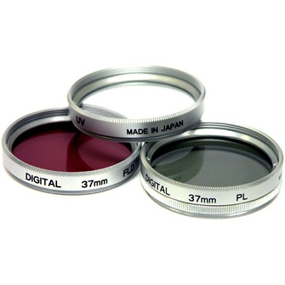 37mm UV, Polarizer & FLD Deluxe Filter kit (set of 3 + carrying case)