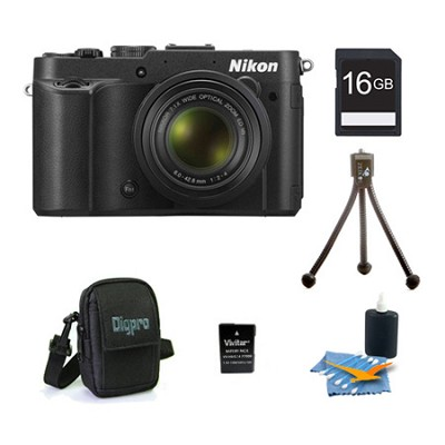 COOLPIX P7700 12.2MP 3-inch LCD Black Digital Camera Kit