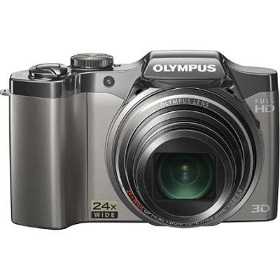 SZ-30MR 16MP 24X Wide Angle Lens 3D Mode Camera- Silver- OPEN BOX
