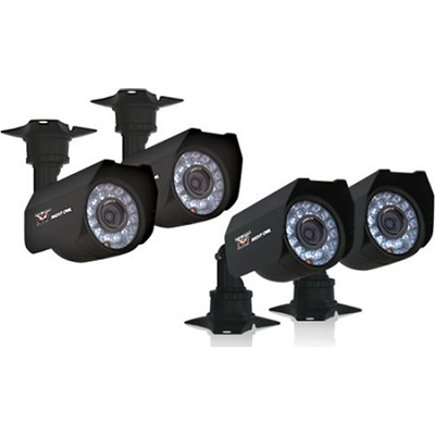 4-pk 400+ TVL Cameras w/ 60ft of Cable per Camera, 45ft Night Vision