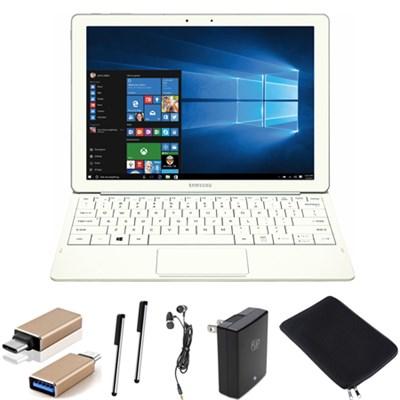 Galaxy TabPro S 12` 128GB (Wi-Fi) White Accessory Bundle