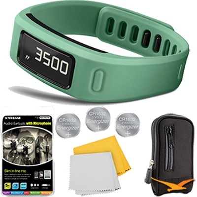 Vivofit Fitness Band Bundle with Heart Rate Monitor (Teal) Plus Deluxe Bundle