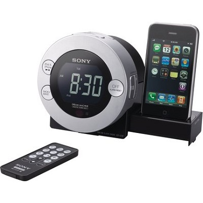 ICF-C7IP Clock Radio with iPod Hidden Sliding Dock Tray