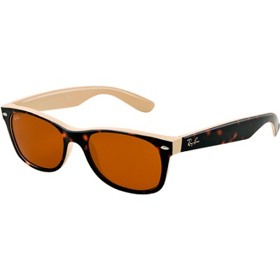Wayfarer Sunglasses 52inch- Top Havana on Beige Frame/Brown Lens