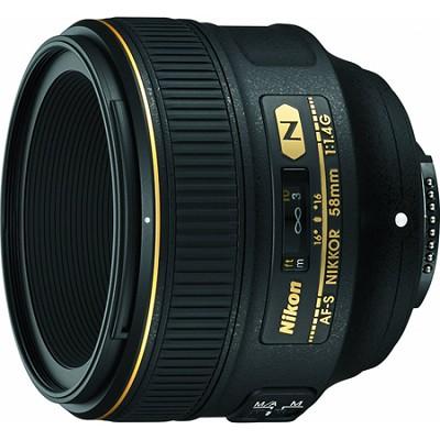 AF-S NIKKOR 58mm f/1.4G Lens - OPEN BOX
