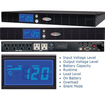 500VA 300W AVR Uninterruptible Power Supply with 6-Outlet - OR500LCDRM1U