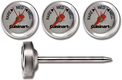Outdoor Grilling Steak Thermometers, Set of Four