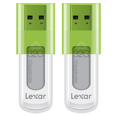 JumpDrive 32GB S50 Hi-Speed USB Flash Drive 2-Pack (Green) - Bulk Packaged
