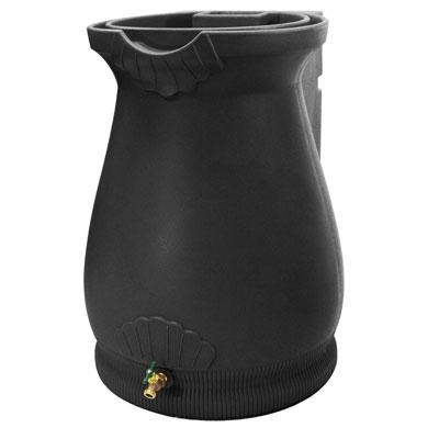 65-Gallon Wizard Rain Urn in Black - RWURN-BLK
