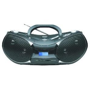 NPB-256 Portable MP3/CD Player with Text Display, AM/FM Stereo Radio, USB Input