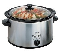 4-Quart Crock-Pot Black & Chrome