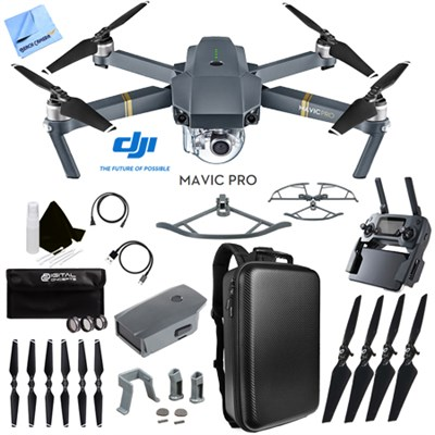 Mavic Pro Quadcopter Drone with 4K Camera and Wi-Fi Custom Case Accessories Kit