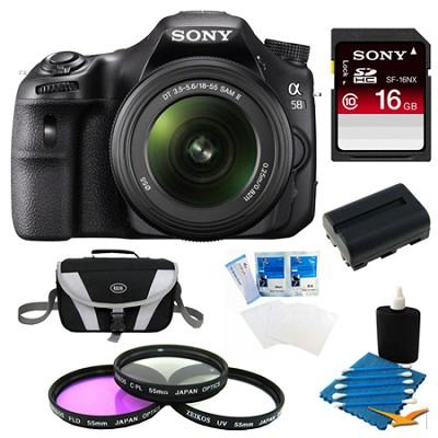 Alpha SLT-A58K Digital SLR Camera 16 GB Bundle