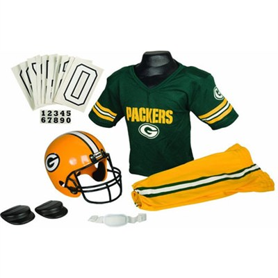 NFL Deluxe Team Uniform Set - Green Bay Packers, Medium