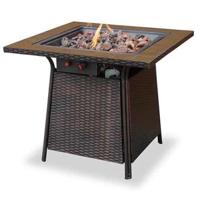 Gas Firebowl Tile Mantel