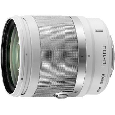 1 NIKKOR 10-100mm f/4.0-5.6 VR Lens (White) - Factory Refurbished