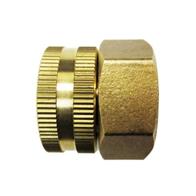 Dual Swivel Brass Connector Garden Hose to Pipe End for SPX Pressure Washers