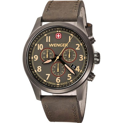 Men's Terragraph Chonograph Watch - Gunmeatal Dial/Brown Leather Strap