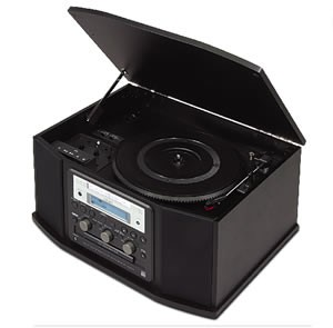 GF450K7 Turntable Cassette CD Recorder and Radio (Black)