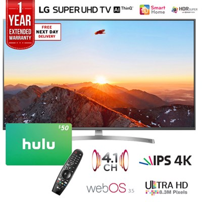 65` Class 4K HDR Smart AI SUPER UHD TV w/ ThinQ + Gift Card & Warranty Pack