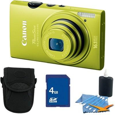 PowerShot ELPH 110 HS 16.1MP Green Digital Camera 5x Zoom HD Video 4 GB Bundle