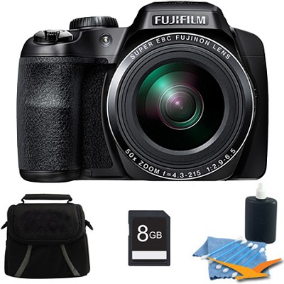 FinePix S9400W 16.2 MP HD 1080i Digital Camera Black 8GB Kit