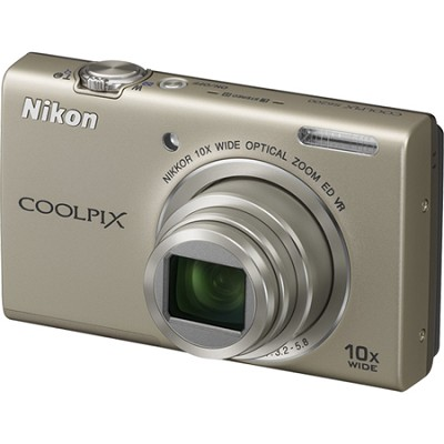 COOLPIX S6200 Silver 10x Zoom 16MP Digital Camera