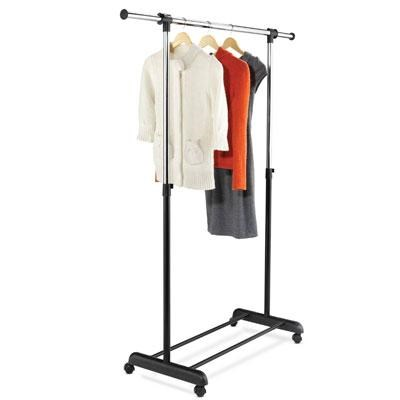 Expand Garment Rack Chrome Blk