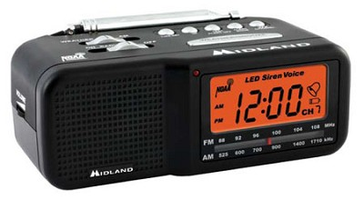 7 Channel W/X Civil Monitor w/AM/FM Clock Radio